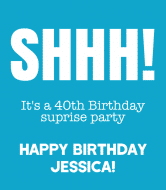 Birthday Wine Label - Shhh Surprise Birthday Party