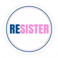 Expressions Sticker - Resister Feminism Women Against Trump