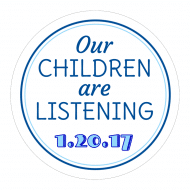 Expressions Sticker - Our Children Are Listening Anti-Trump