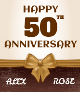 Anniversary Liquor Label - 50th Anniversary Celebration