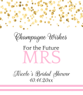 Wedding Champagne Label - Champagne Wishes