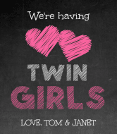 Baby Wine Label - Twin Girls