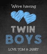 Baby Wine Label - Twin Boys
