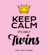Baby Wine Label - Keep Calm Its Twin Girls