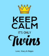 Baby Wine Label - Keep Calm Its Twin Boys