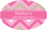 Birthday Sticker - Birthday Chevron