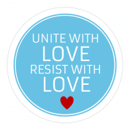 Expressions Sticker - Unite With Love Resist Anti Hate