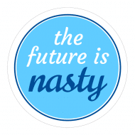 Expressions Sticker - The Future Is Nasty