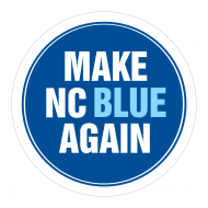 Expressions Sticker - Make North Carolina Blue Again