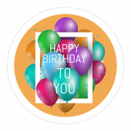 Birthday Sticker - Colorful Balloons