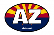Sticker - Arizona State Flag