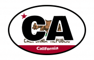 Sticker - California State Flag