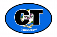 Sticker - Connecticut State Flag