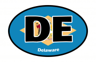Sticker - Delaware State Flag