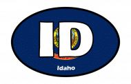 Sticker - Idaho State Flag