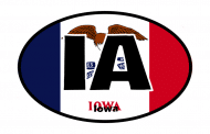 Sticker - Iowa State Flag