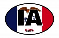 Sticker - Iowa State Flag
