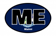 Sticker - Maine State Flag