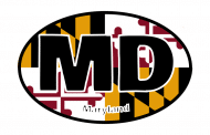 Sticker - Maryland State Flag