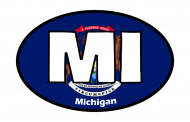 Sticker - Michigan State Flag