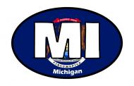 Sticker - Michigan State Flag