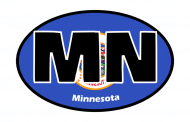 Sticker - Minnesota State Flag