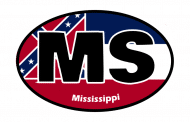 Sticker - Mississippi State Flag