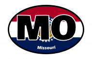 Sticker - Missouri State Flag