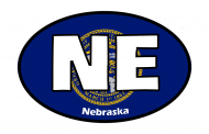 Sticker - Nebraska State Flag