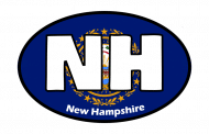 Sticker - New Hampshire State Flag