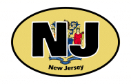 Sticker - New Jersey State Flag
