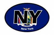 Sticker - New York State Flag