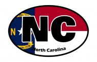 Sticker - North Carolina State Flag
