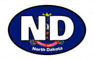Sticker - North Dakota State Flag