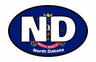 Sticker - North Dakota State Flag