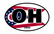 Sticker - Ohio State Flag