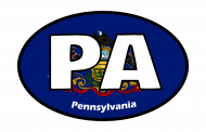 Sticker - Pennsylvania State Flag