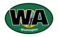 Sticker - Washington State Flag