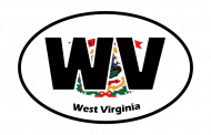 Sticker - West Virginia State Flag