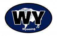Sticker - Wyoming State Flag