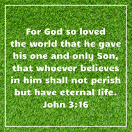Sticker - John 3 God So Loved The World
