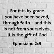 Sticker - Ephesians 2 For It Is By Grace
