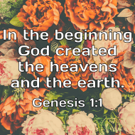 Sticker - Genesis 1 In The Beginning
