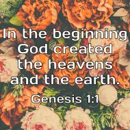 Sticker - Genesis 1 In The Beginning
