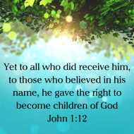 Sticker - John 1 Yet To All Who Did Receive Him