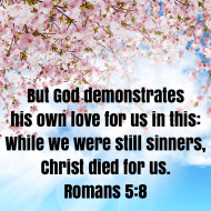 Sticker - Romans 5 But God Demonstrates