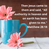 Sticker - Matthew 28 Then Jesus Came To
