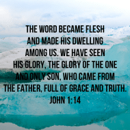 Sticker - John 1 The Word Became Flesh