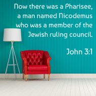 Sticker - John 3 Now There Was A Pharisee
