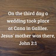 Sticker - John 2 On The Third Day